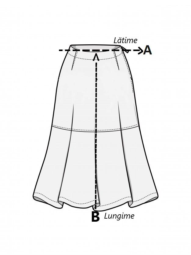 Imagine Fustă pantalon ShOnline mărimea S
